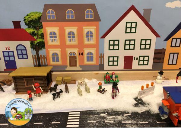 Huizenachtergrond kinderspeelmat 5