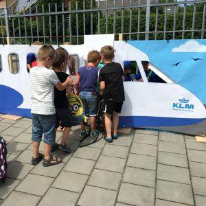 Vliegtuig rollenspel, kinderspeelmat