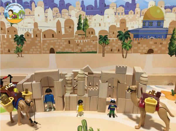 Achtergrond Jeruzalem, kinderspeelmat 3