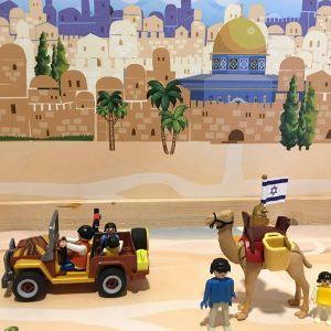 Achtergrond Jeruzalem, kinderspeelmat