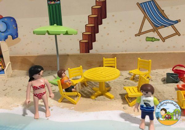 Duinenachtergrond met strandhuisjes 8 b, kinderspeelmat