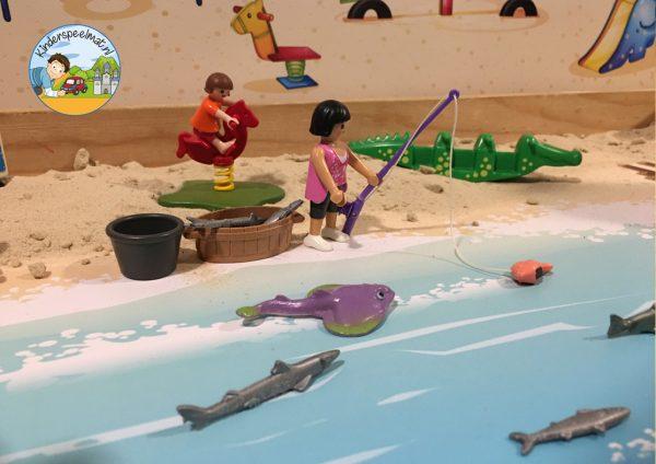 Duinenachtergrond met strandhuisjes 9 b, kinderspeelmat