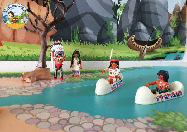 Indianenondergrond met rivier 3 b, kinderspeelmat