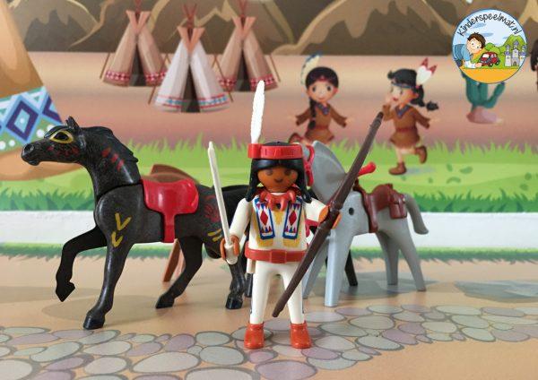 Indianenondergrond met rivier 6 b, kinderspeelmat