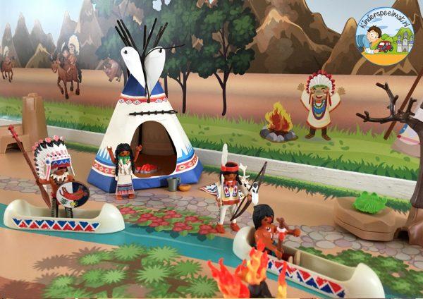 Indianenondergrond met rivier 7 b, kinderspeelmat