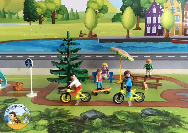 Ondergrond fietspaadjes, kinderspeelmat 6 b