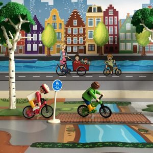 Speelmat ondergrond fietspaadjes 2, kinderspeelmat