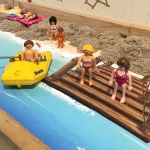 Strandmat met zee 2, kinderspeelmat
