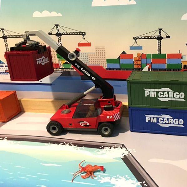Watermat voor de haven 5, kinderspeelmat