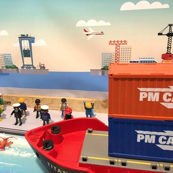Watermat voor de haven 6, kinderspeelmat