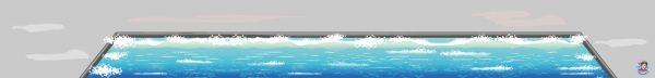 Watermat voor de haven, kinderspeelmat