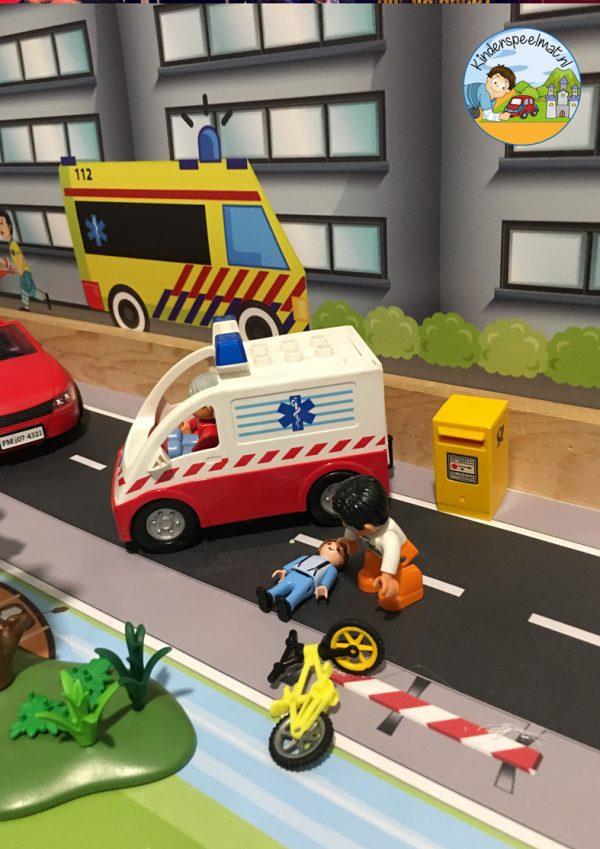 Ziekenhuisachtergrond 1 b, kinderspeelmat