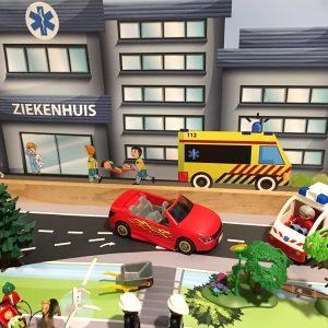 Ziekenhuisachtergrond, kinderspeelmat