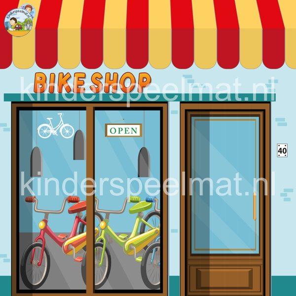 Fietsenwinkel voor rollenspel 2, kinderspeelmat