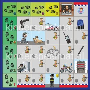 Thumbnail Bee-Bot mat Politie , kinderspeelmat