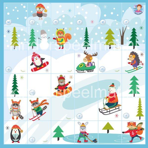 Bee-Bot mat winter , kinderspeelmat