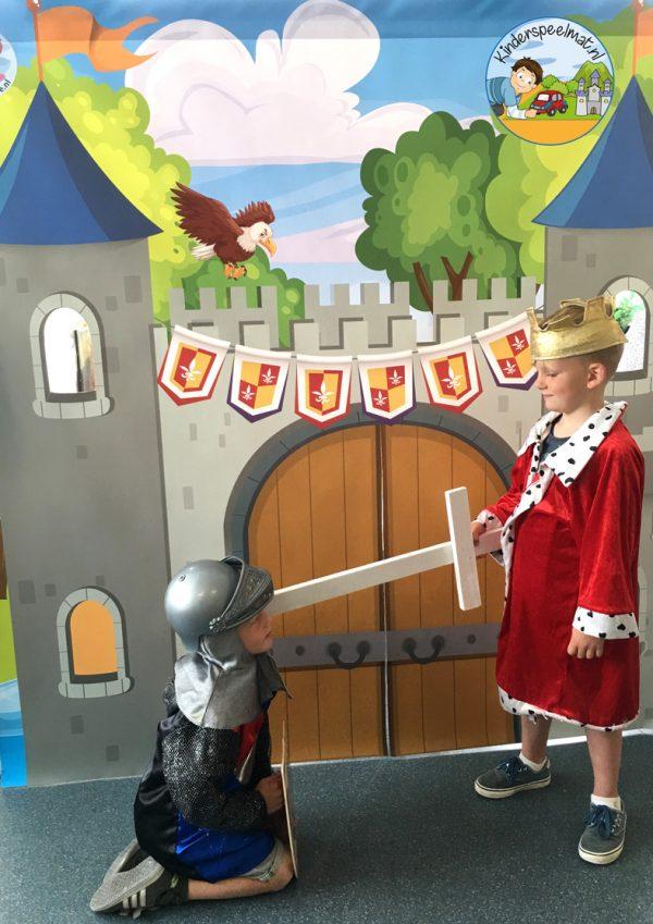 kasteelmat voor rollenspel ridders en prinsessen 4 b, kinderspeelmat