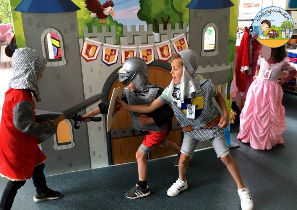 kasteelmat voor rollenspel ridders en prinsessen 5 b, kinderspeelmat