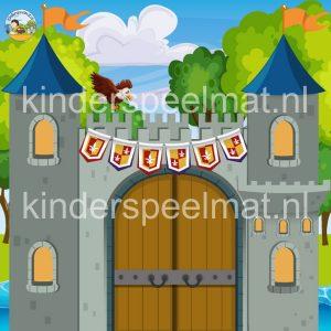 kasteelmat voor rollenspel ridders en prinsessen, kinderspeelmat