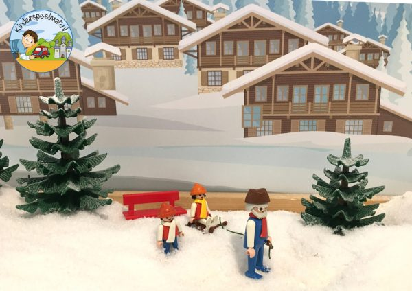 Achtergrond bergen winter 5 , kinderspeelmat