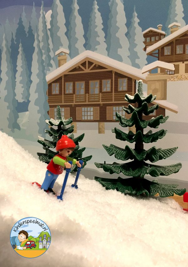 Achtergrond bergen winter 6 , kinderspeelmat