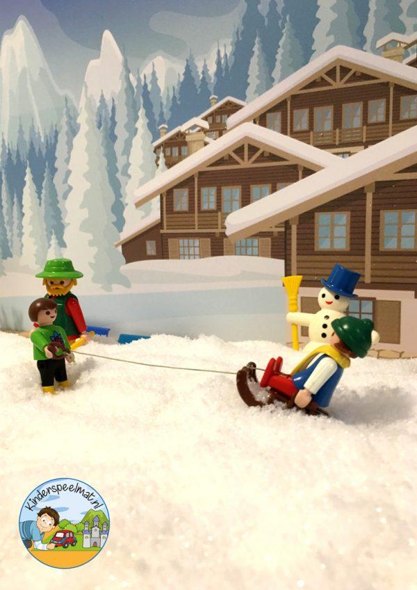 Achtergrond bergen winter 7 , kinderspeelmat