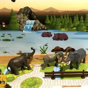 Zooachtergrond 7, kinderspeelmat