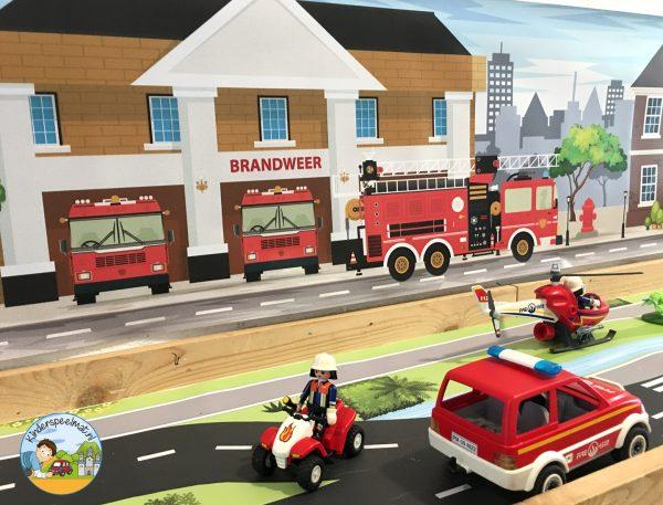 Speelmat brandweer, thematafel, kleuteridee 2
