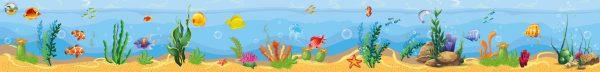 Diepzeeachtergrond, kinderspeelmat