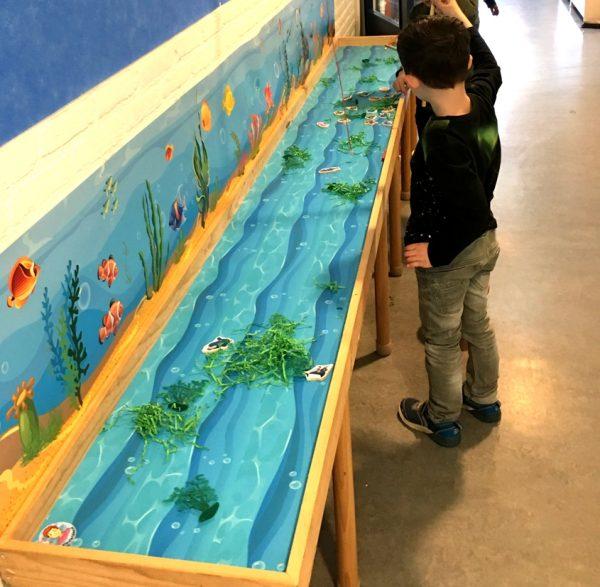 watermat voor vissen , kinderspeelmat