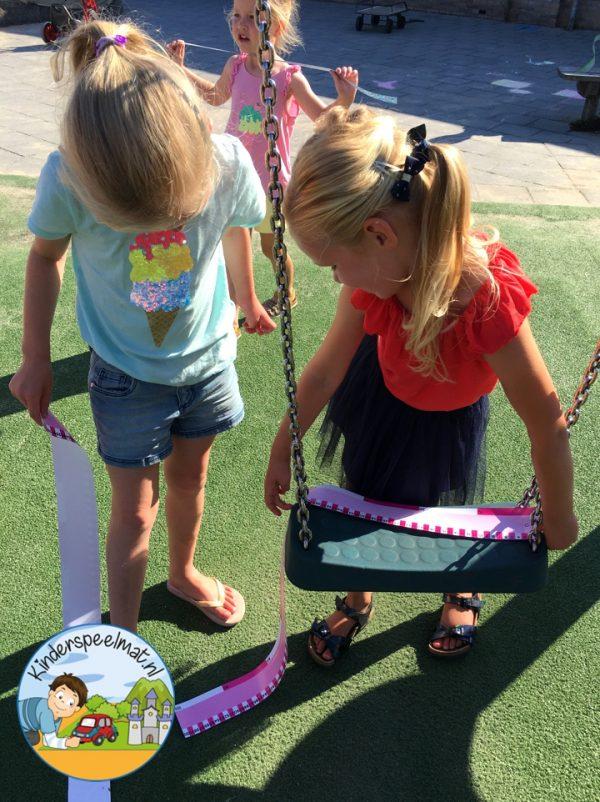 Buiten meten, bewegend leren, kinderspeelmat 6