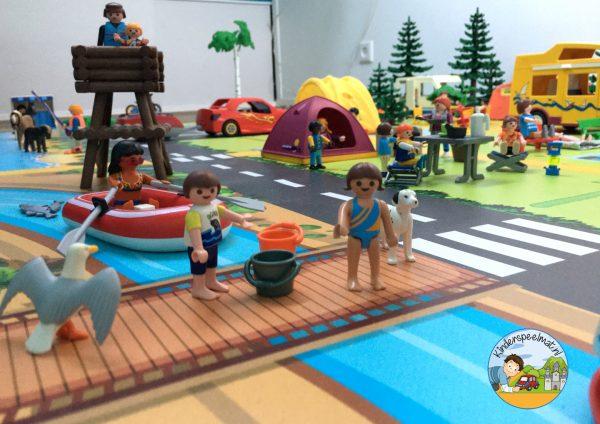 vloermat, speelmat camping, kinderspeelmat, kleuteridee 2