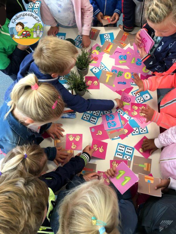 Bewegend leren cijfercombi, rekenen, kinderspeelmat 3