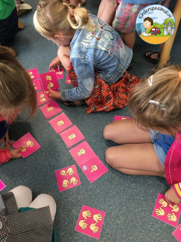 Bewegend leren cijfercombi, rekenen, kinderspeelmat 4