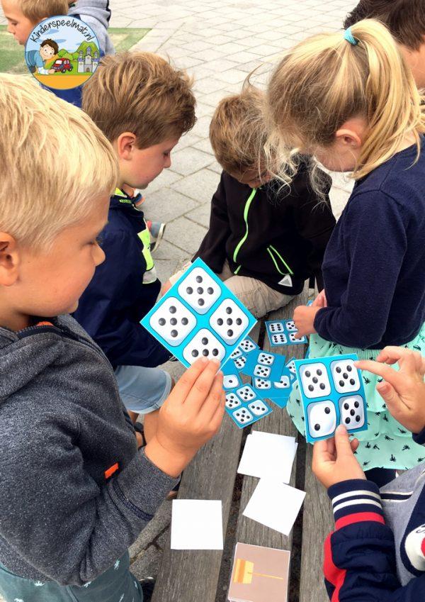 Bewegend leren cijfercombi, rekenen, kinderspeelmat