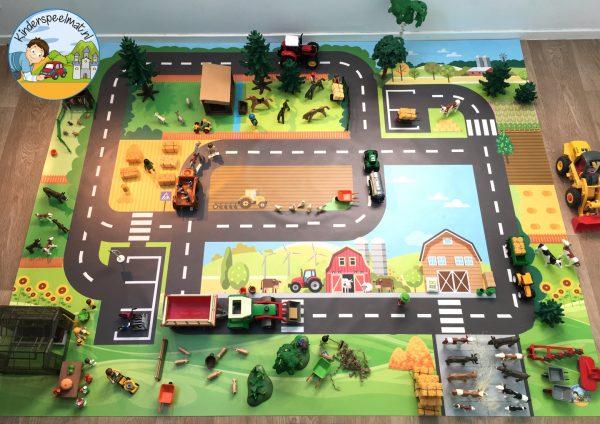 Speelmat boerderij, kinderspeelmat, kleuteridee, vloermat 2