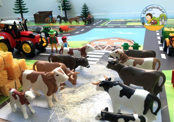 Speelmat boerderij, kinderspeelmat, kleuteridee, vloermat 4