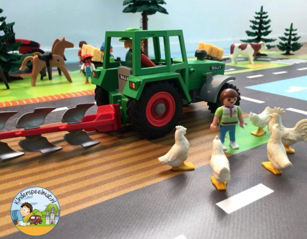 Speelmat boerderij, kinderspeemat, kleuteridee, vloermat