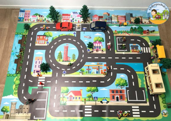 Vloermat, speelkleed stad kinderspeelmat, speelmat auto's kinderen 8