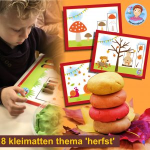 8 kleikaarten thema herfst kinderspeelmat