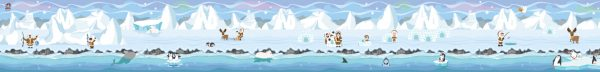 Achtergrond Noordpool Zuidpool, speelmat kleuteridee