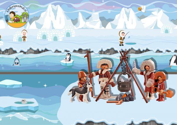 Speelmat Noordpool Zuidpool, speeltafel, kinderspeelmat