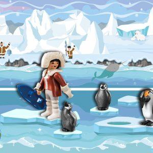 Speelmatten Noordpool Zuidpool, kinderspeelmat pinguins eskimo k
