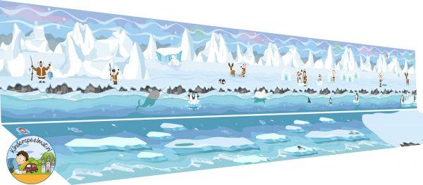 Speelmatten Noordpool Zuidpool, kleuteridee
