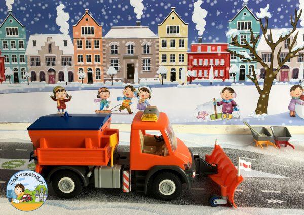 Speeltafel thema winter, sneeuw, kleuters, kleuteridee