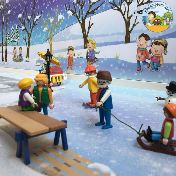 Speeltafel thema winter, sneeuw, kleuters, kleuteridee thumb