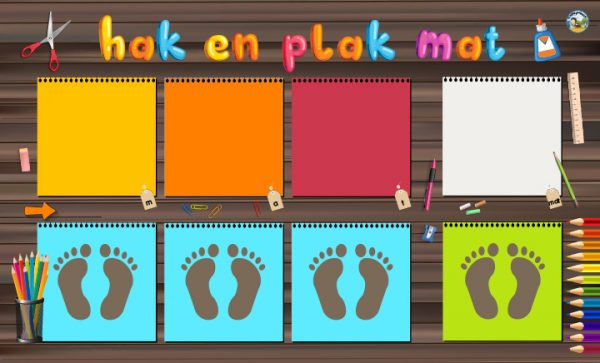 Hak en plak mat 3 letters, kinderspeelmat