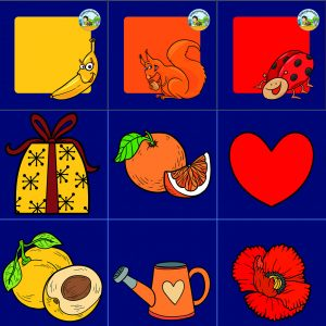 kleurenkaartjes, close up , kleuteridee, kinderspeelmat